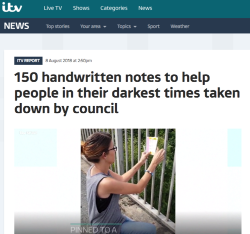 Itv news notes of hope katie houghton