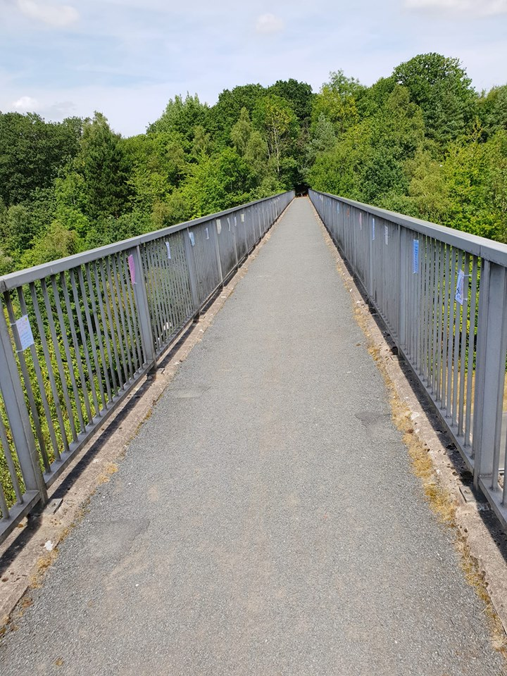 Musketts way bridge notes on bridge - suicide prevention redditch