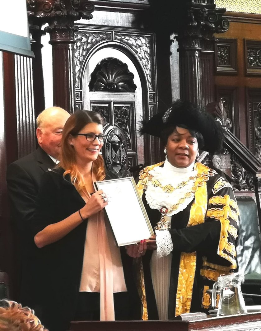 Lord Mayor Award Katie Maylea Birmingham