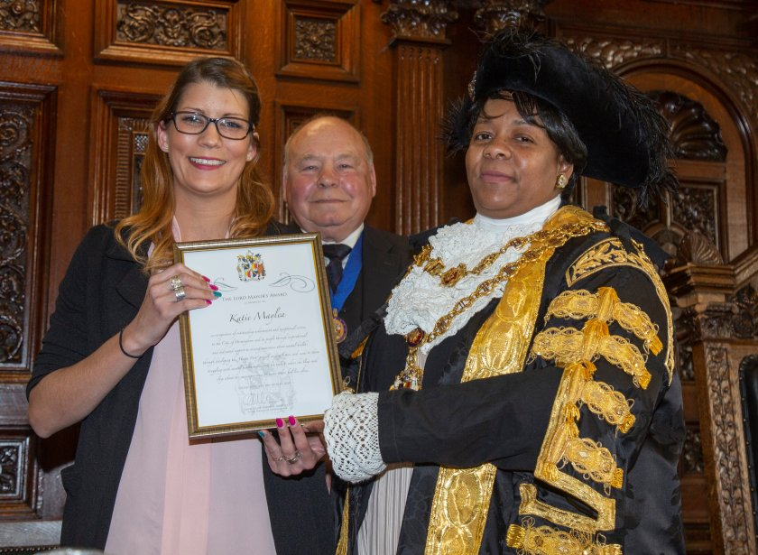 Katie Maylea Lord Mayor Award Birmingham